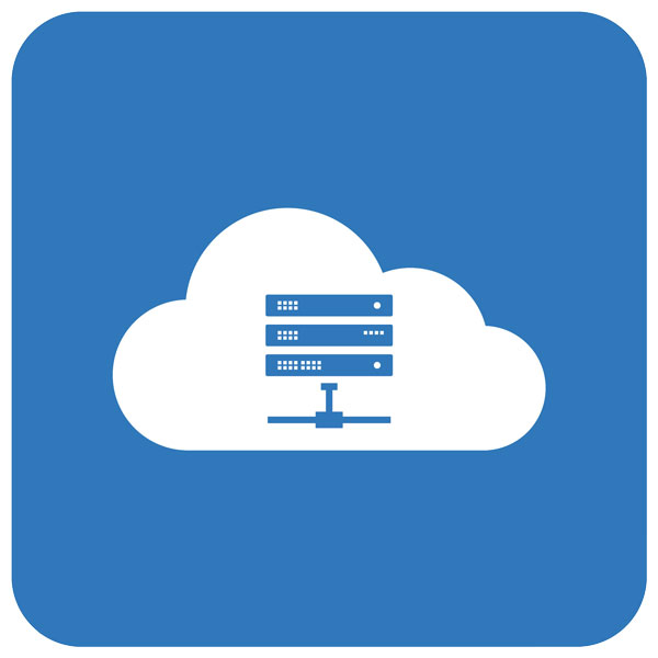 illustration of cloud backup servers in a cloud